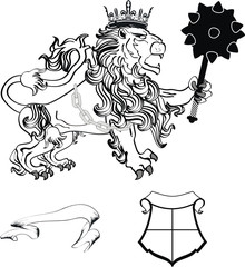 lion heraldic coat of arms lion tattoo6