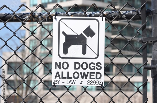 No dogs allowed signage