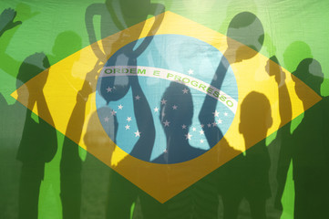 Champion Winning Football Team Brazilian Flag