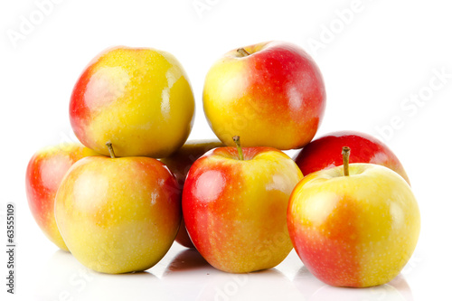 apples over white background