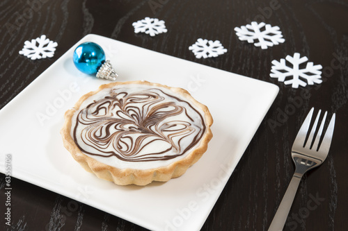 Christmas White Chocolate Tarts