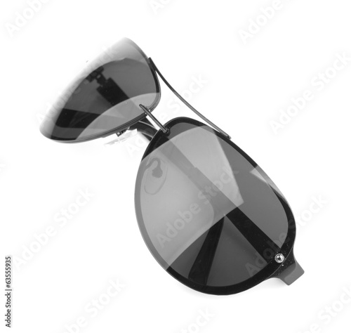 Aviator sunglasses isolated on white background