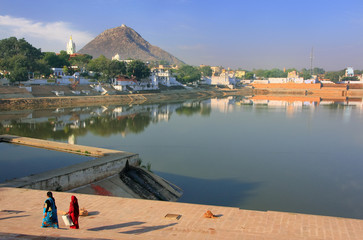 Pushkar lake and temples, Rajasthan, India