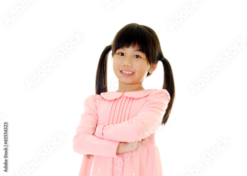 Portrait of confident asian girl