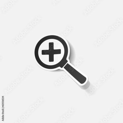 realistic design element: magnifier