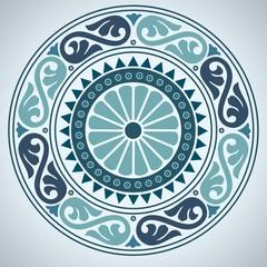 Round ornament Rosone Mosaik rundes Ornament