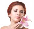 Beauty Girl Portrait. Beautiful Spa Woman.Skincare Face