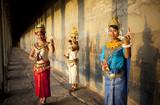 Thraditional Apsara Dancers in Cambodia