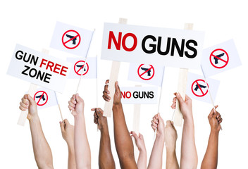 People Campaigning for Gun Free Zone