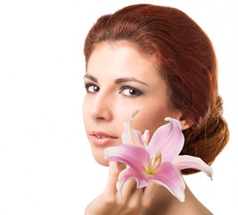 Beauty Girl Portrait. Beautiful Spa Woman.Skincare Face
