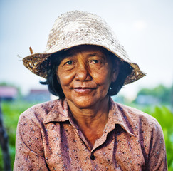 Cambodian Local Female Farmer