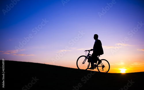 Businessman Biking Outdoors