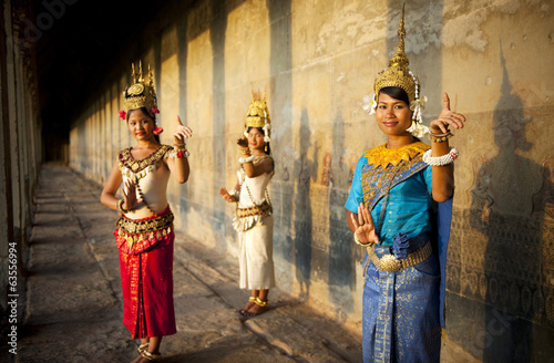 Thraditional Apsara Dancers in Cambodia