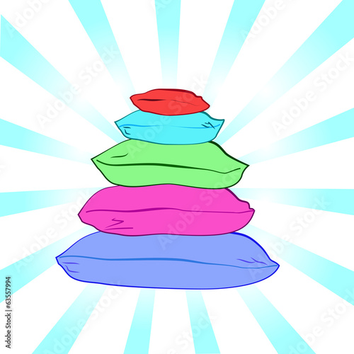Isolated colorful pillows-vector illustration
