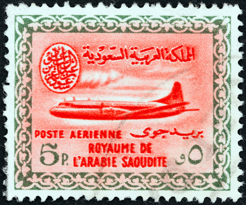 Vickers Viscount 800 airplane (Saudi Arabia 1960)