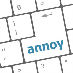 annoy button on the computer keyboard key