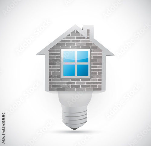 home light bulb illustration design