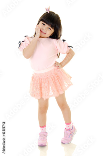 Little fashionable asian girl