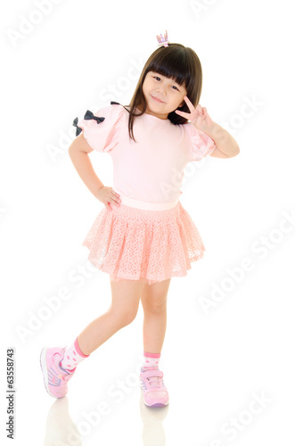 Little asian girl posing