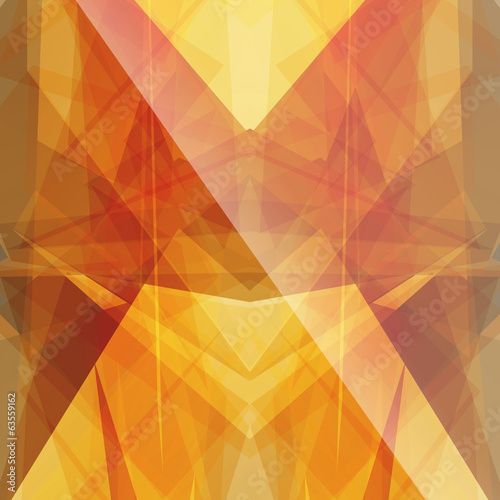 bright sun triangular square background button icon with flare