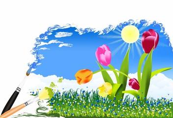 Malowanie wiosny,