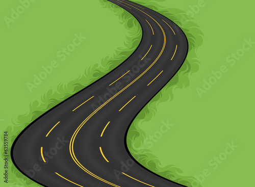 Highway vector,Landscape background