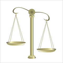 gold Balance for food diet and justice