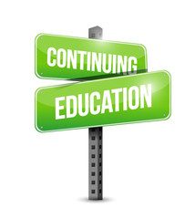 continuing education street sign illustration