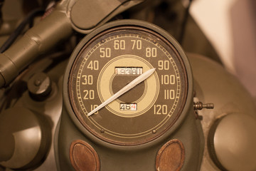 Old style of motorcycle speedometer