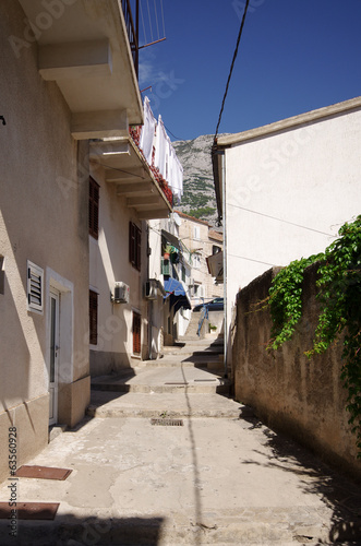 Narrow street in Balkan town