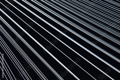 Black background with white lines