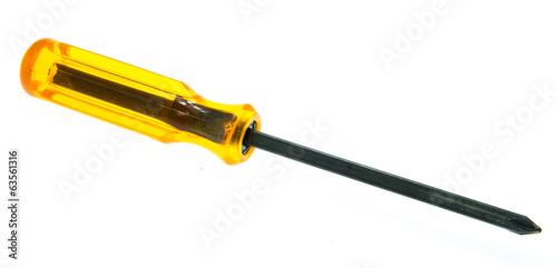 A screwdriver over a white background