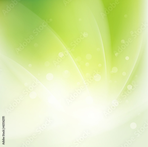 Abstract smooth fresh green flow background, Vector illustration