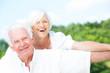 canvas print picture - senioren im glück