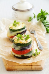 Roasted vegetables with cheese