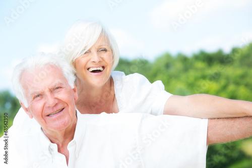canvas print picture senioren im glück