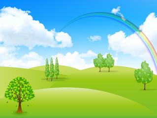 空 虹 風景