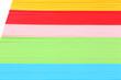 Colorful art paper close up