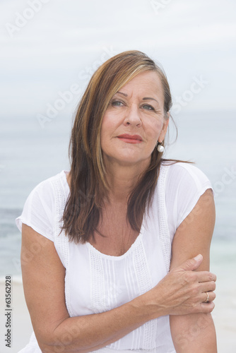 Senior woman lonely portrait outdoor