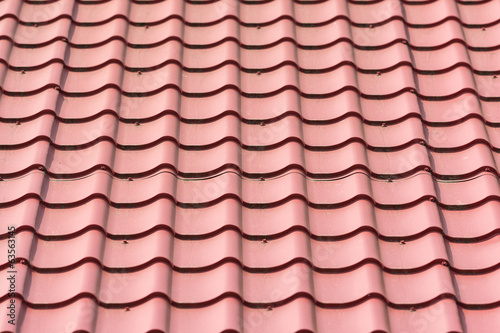 House Shingles Tiles On A Roof Closeup