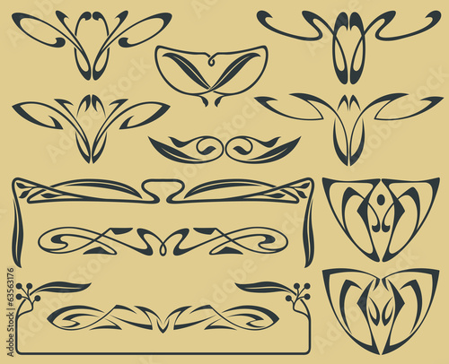 Vector set of abstract elements