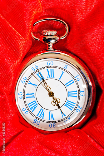 beautiful retro pocket watch in a box