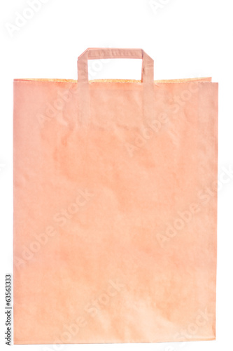 paper shopping bag with the possibility of inscribing