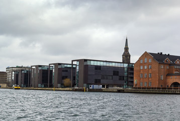 Waterfront of channel, Copenhagen