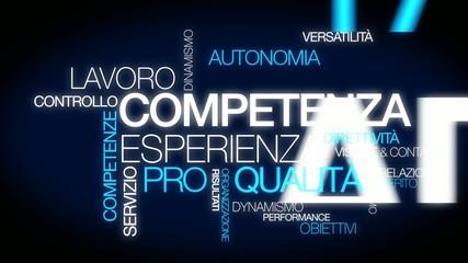 Competenza esperienza lavoro nube di parola video animazione