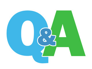 """""""Q&A"""" Letter Collage (questions and answers help information)"""