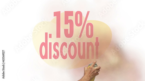 15 Percent Discount Spray Painting