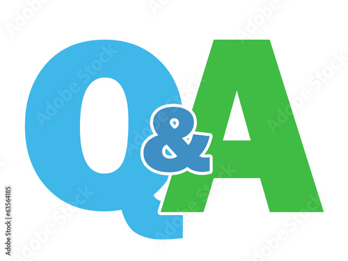 """Q&A"" Letter Collage (questions and answers help information)"