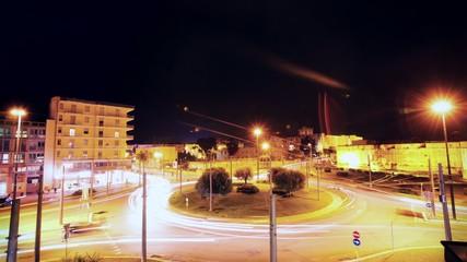 Rotatoria di notte