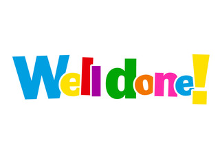 """WELL DONE!"" Letter Collage (card congratulations achievement)"